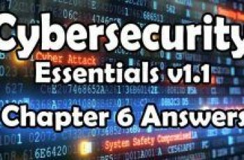 Cybersecurity Essentials v1.1 Chapter 6 Quiz Answers