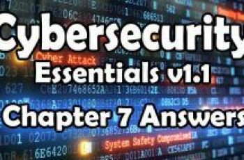 Cybersecurity Essentials v1.1 Chapter 7 Quiz Answers