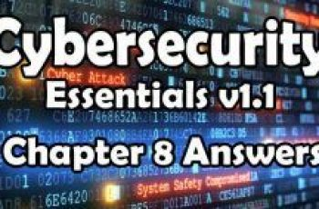 Cybersecurity Essentials v1.1 Chapter 8 Quiz Answers