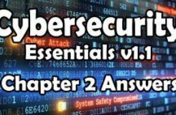 Cybersecurity Essentials v1.1 Chapter 2 Quiz Answers