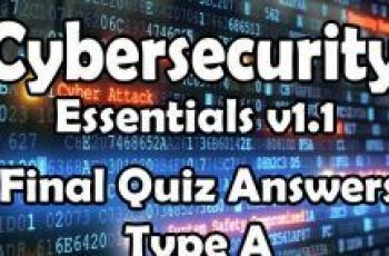 Cybersecurity Essentials v1.1 Final Quiz Answers Type A